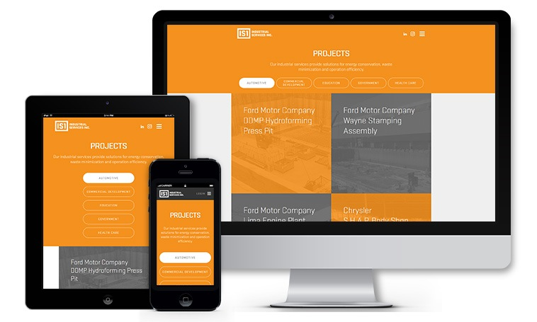 IndustrialServices1.com Projects page.